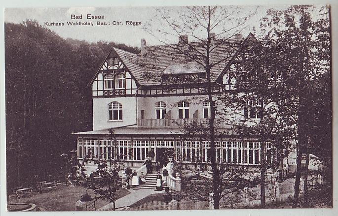 bad essen wald hotel kurhaus r gge osnabr ck ca 1910 ebay. Black Bedroom Furniture Sets. Home Design Ideas